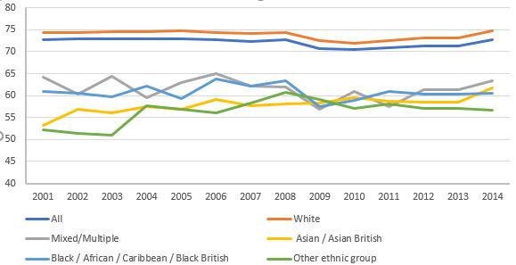 ethnic employment %